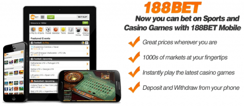 188Bet Mobile Casino Free Bet
