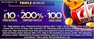 signup bonus + deposit match