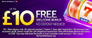 no deposit online slots casino UK