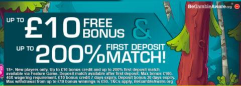 free signup bonus + deposit match