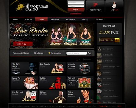 Live Dealer Comes to Hippodrome