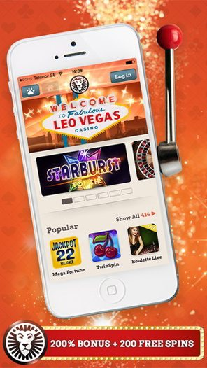 Play Blackjack, Roulette and Live Games at Leo Vegas Mobile