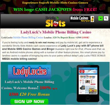 Mobile Phone Billing Casino