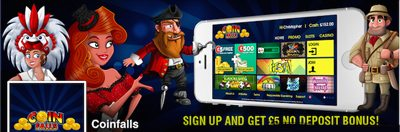 Coinfalls UK Slots Sites Bonuses