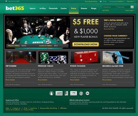 Bet365 Live Deal Casino | Bonus of £1,000 |
