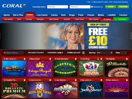 Best Coral Live Casino for Play