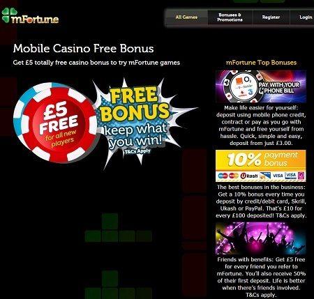 pay by phone casino bonus
