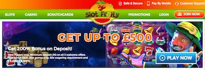 Slot Fruity Slots Pay by Phone Bill Deposit