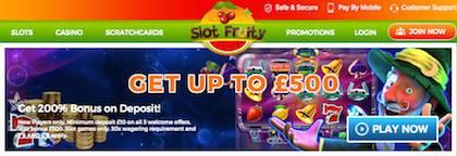 Slot Fruity Slots Pay by Phone Bill Deposit