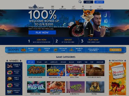 Mail Casino Exciting 10% Cashback