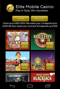 No Deposit Bonus Elite Mobile Casino