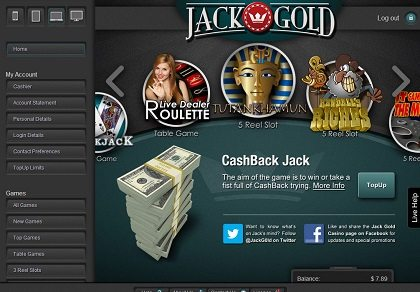 Jack Gold South Africa Casino Bonus