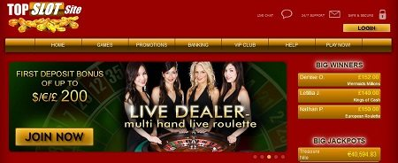 Live Dealer VIP Games Top Slot Site